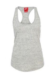 Майка спортивная Nike, цвет: серый. Артикул: NI464EWDRU76. Женская одежда