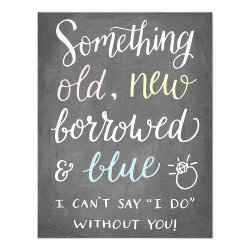 Something Old | Bridesmaid Card