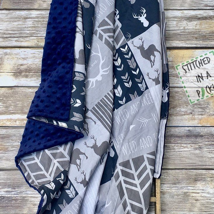 Have a woodland/buck nursery theme? Colors done in gray and navy? Then you may NEED this blanket. Click the link in my bio to purchase and check out my other items. . . . . . #buck #deer #hunting #outdoors #whitetail #wildlife #deerhunting #hunt #nature #bowhunting #deerseason #doe #hunter #huntingseason #antlers #bigbuck #bigbucks #animals #bucks #archery http://misstagram.com/ipost/1566195978464989392/?code=BW8PvHBDRDQ