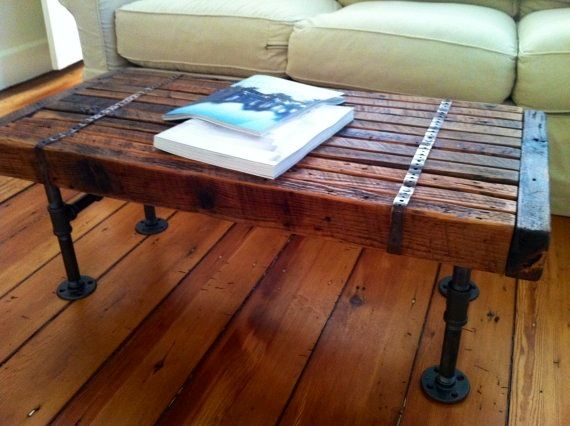 Industrial Table Tables And Rustic Coffee Tables On Pinterest