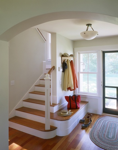Stair with bench turn-out