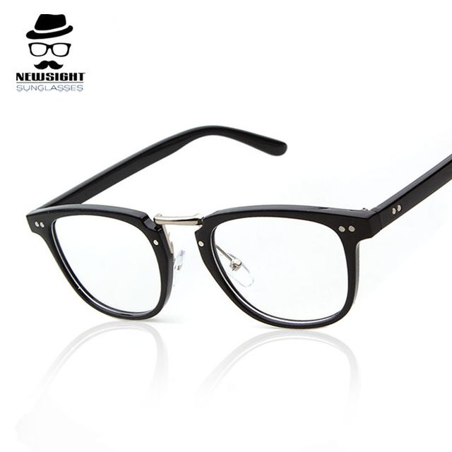 brand eye glasses frames for men 2016 fashion clear designer glasses women vintage soft nose pads