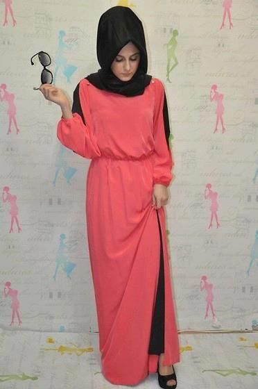 Simple pretty evening hijab dress / hijabi