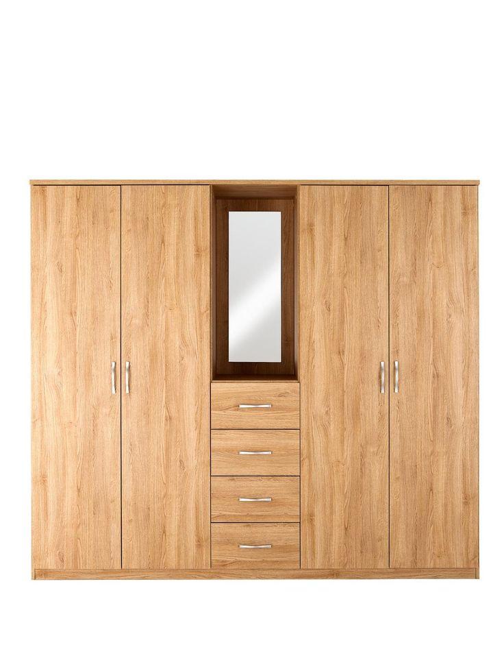 Now £161.10 on 26/12/2014 Peru 4-Door, 4-Drawer Combi Fitment Wardrobe, http://www.very.co.uk/peru-4-door-4-drawer-combi-fitment-wardrobe/1188450296.prd
