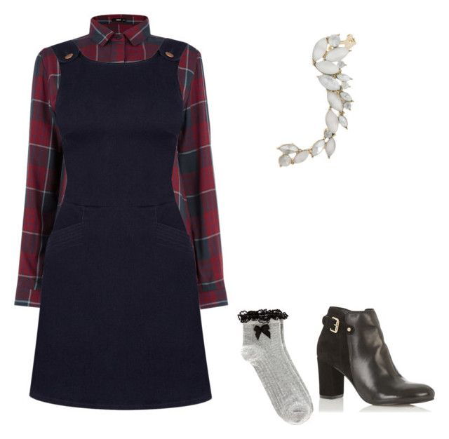 """""""Denim pinafore"""" by prveenkat on Polyvore featuring Oasis"""