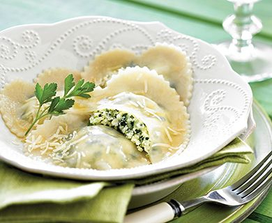 Ricotta, Spinach and Lemon #Ravioli with Brown Butter Sauce