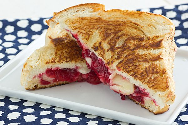 Cranberry Sauce Grilled Cheese Sandwich;  9 great recipes for your left over cranberry sauce.
