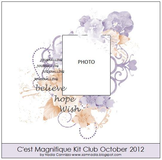 C'est Magnifique Kits: October Sketch Challenge
