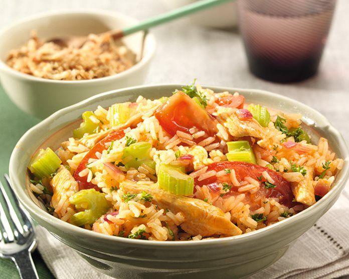 Sweet and Sour kip met verse groenten en rijst. recept