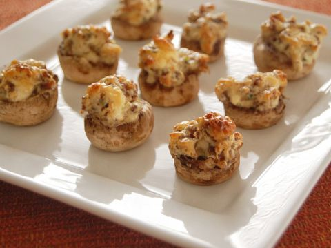 Stuffed mushrooms.  Great recipe for Thanksgiving and Christmas appetizers!
