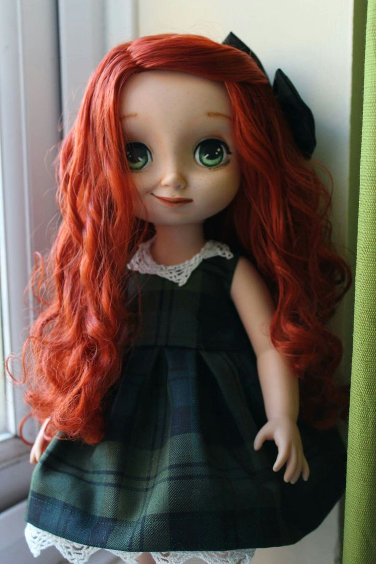 Ally, Marvelous transformation of Merida. Incredible work of @rin0730 #disneycustom #disneyanimator #disneyanimators #merida #brave #scottishgirl #ooak #repaint #disneyooak #disneyrepaint #toddlerdoll #disneytoddler #ginger #ooak #handmade #artdoll #gingergirl #Scotland #tartan
