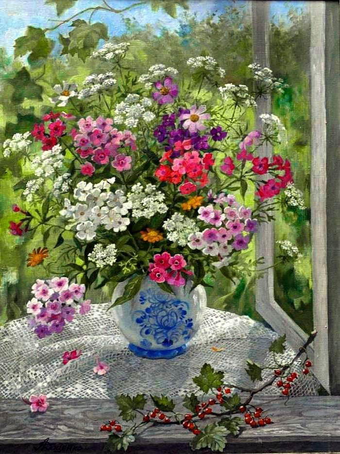 Lydia Datsenko - Flowers and currants