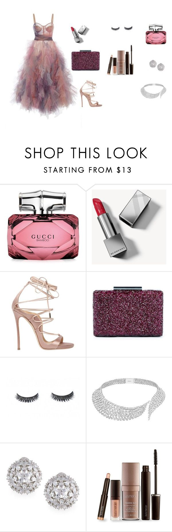 """""""Subtle"""" by ustine on Polyvore featuring moda, Gucci, Burberry, Dsquared2, Sole Society, Messika, Fallon i Laura Mercier"""