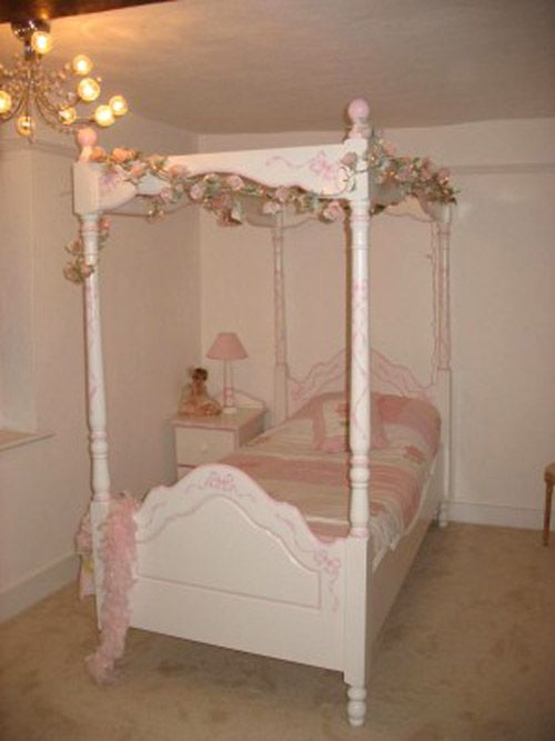 Pink 4 Poster Bed 113 Best Girl's Bedroom Images On Pinterest  34 Beds Four .