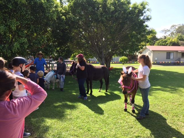 Pony rides during the summer school holidays, such a real treat.