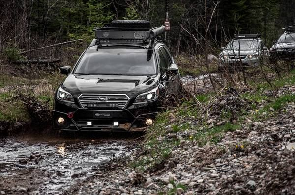 Here is our demonstrator vehicle for the project LP Adventure, the new division of Lachute Performance, which is devoted to the preparation of the Subaru Outback, Forester and XV Crosstrek for off-road. Make: Subaru Model: Outback 3.6R Limited Package Year: 2016 Color: Crystal Black Silica Modifications: Tires: 245/65R17 BFGoodrich All Terrain T/A KO2 Wheels: Motegi Racing MR118 17x8 Offset 45 Lift Kit: LP Aventure 2