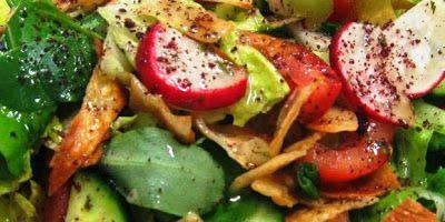Fattoush Recipe - How to make Fattoush  (I like HOW descriptive this is)
