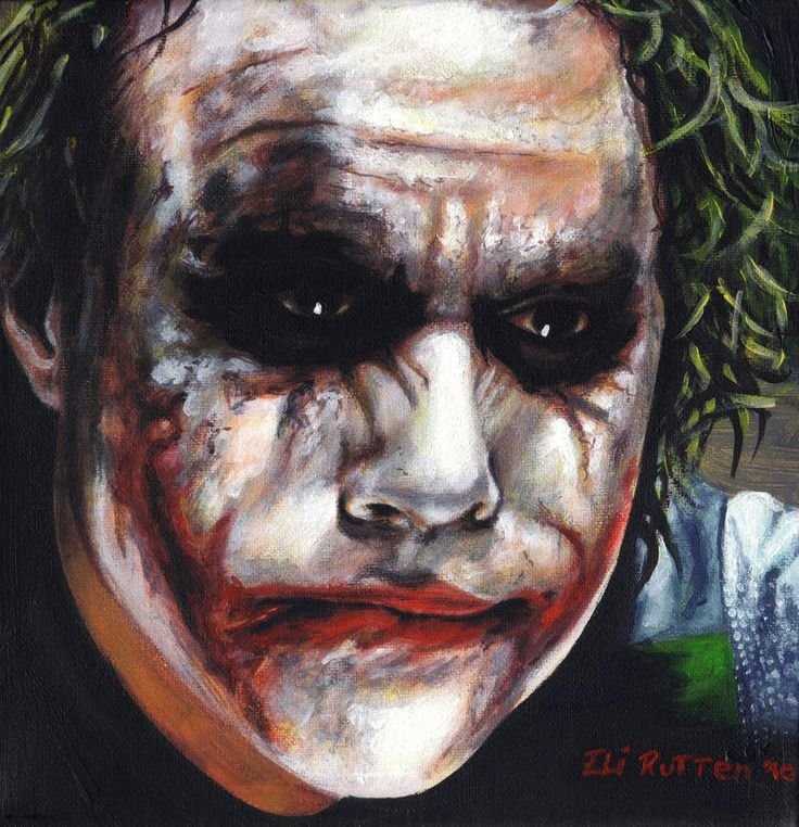 Heath Ledger The Joker by ~elirutten on DeviantArt