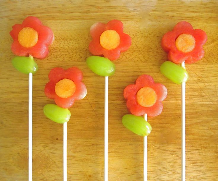 edible fruit arrangements | You can even create an edible flower bouquet! Try using heart and star ...