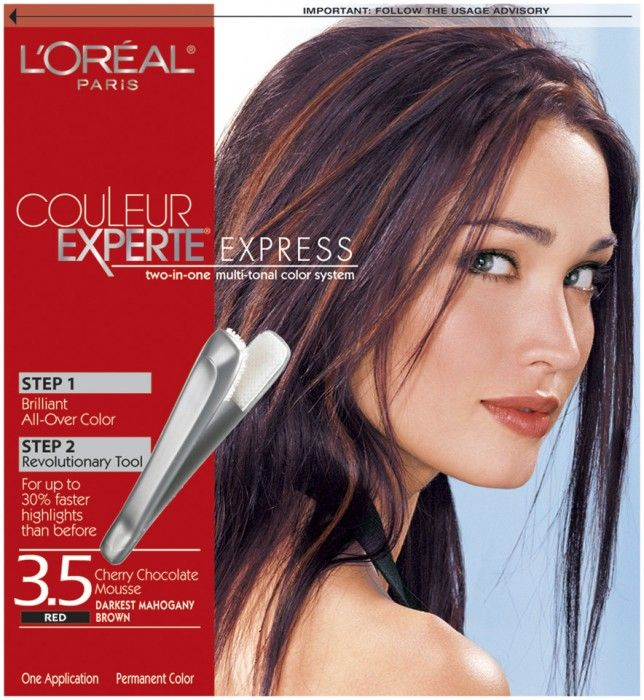 Couleur Experte Express Red Cherry Chocolate Mousse Darkest Mahogany Brown 3.5 Hair Color