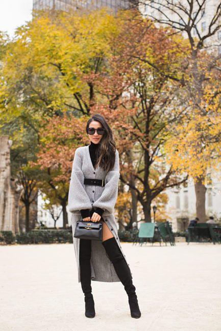 Autumn in NYC :: Cardigan sweater & Tall boots   Wendy's Lookbook   Bloglovin'