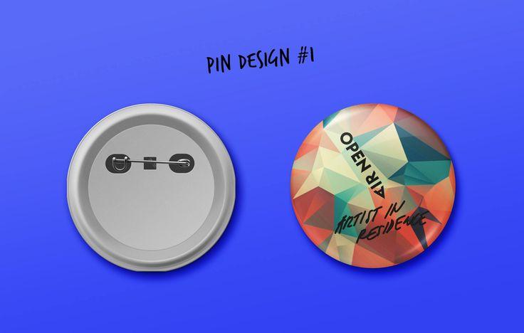 Pins for OPEN A.i.R #pins #graphicdesign #design #merchandising #openair2015 #plzen2015