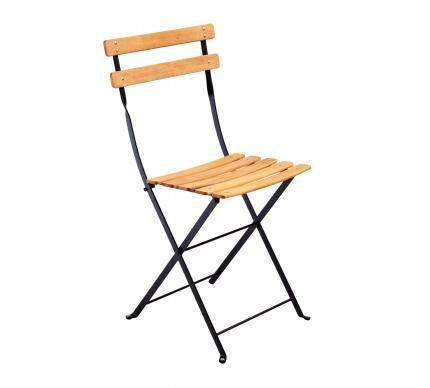 Folding Timber And Metal Bistro Chair Furniture Pinterest Chairs