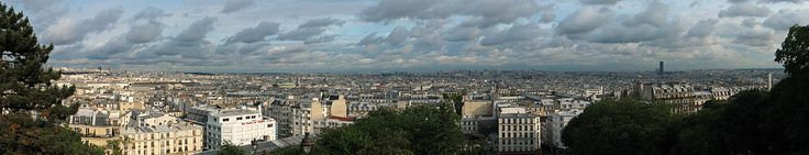 Paris, looking down from Sacre-Coeur, and in one of my favorite areas Montmatre