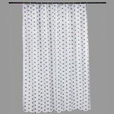 Rideau de douche en textile gris zingué n°1 l.180 x H.200 cm, Atomic SENSEA