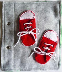 quiet book : tie your laces (livre d'activité : lacets)