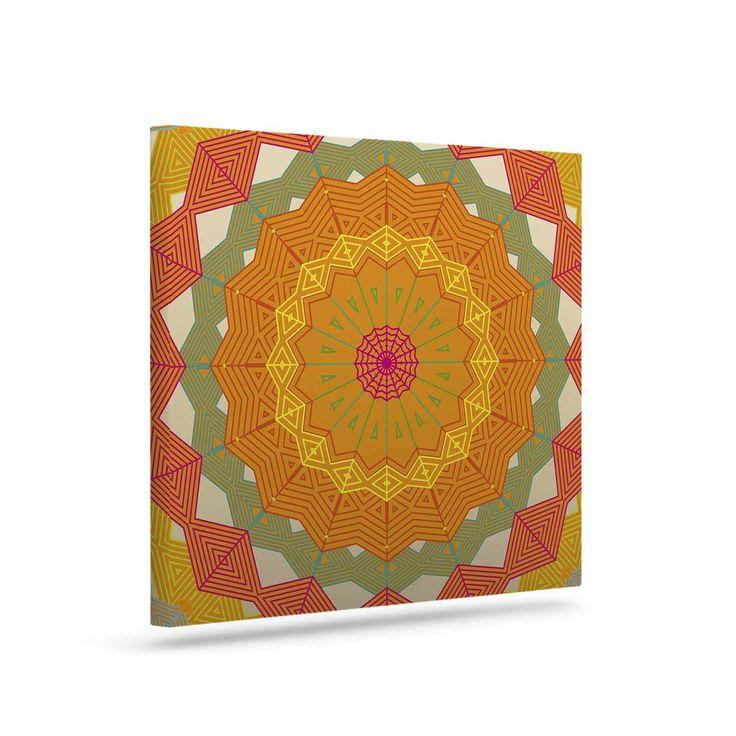 "Angelo Cerantola ""Composition"" Orange Beige Canvas Art"