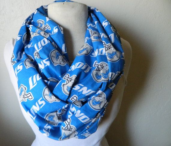 Detroit Lions Cotton Infinity Scarf...I'm going to have to rock a scarf with my growing belly!