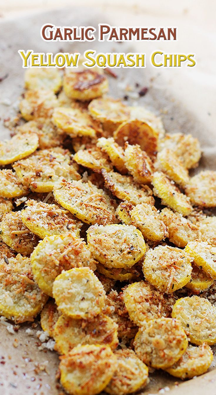 Garlic Parmesan Yellow Squash Chips