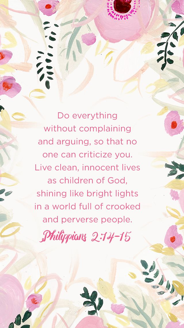 Philippians 2:14-15 // iPhone 6 Wallpaper/Background for memory verse/scripture support.