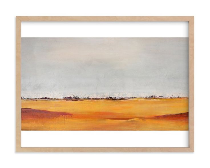 """Rolling Plains"" - Art Print by Megan Kelley in beautiful frame options and a variety of sizes."