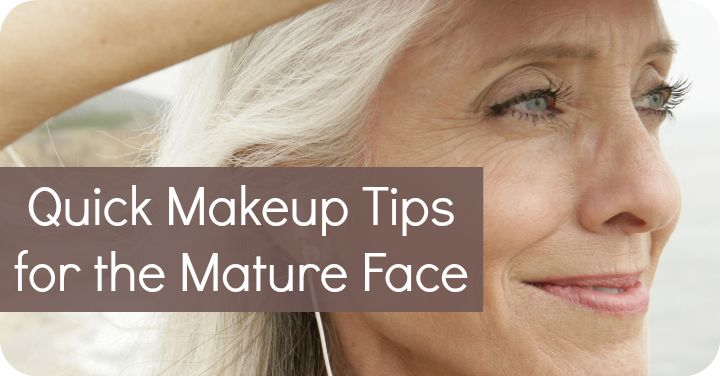 Quick Makeup Tips for the Mature Face: Use a lip pencil to widen thinning lips Switch to a pencil eyeliner to soften the eyes Define the jaw line to conceal sagging skin Stick to lipsticks that are no more that 2 shades darker than your natural lip color  Highlight cheek bones for a lifting effect  Fill in thinning brows with a brow pencil or brow powder