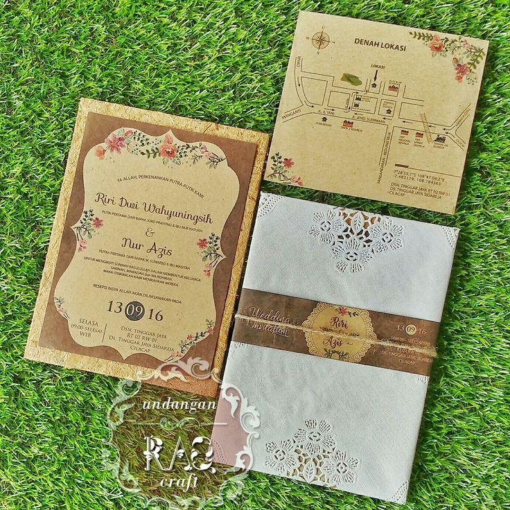 Undangan Pernikahan Rustic 087874240106