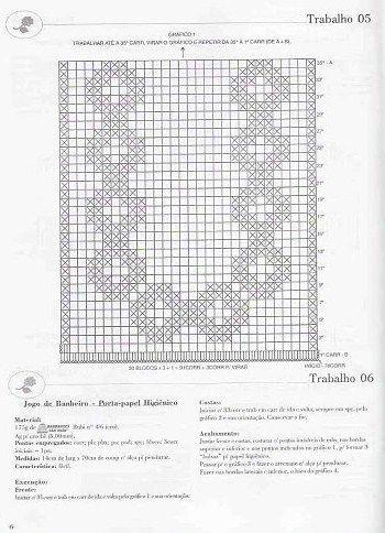 Crochê da Mag: Jogo de banheiro em crochê