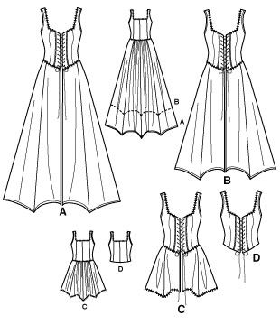 corset dress pattern. This reminds me of the gunne sax dresses. Simplicity 2757.