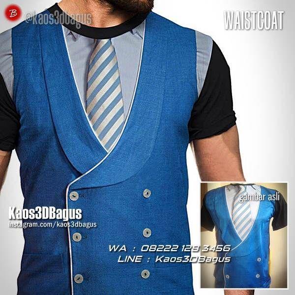 Kaos3D Gambar Jas, Kaos3D Gambar DASI, Waistcoat, Fashion, Men's Fashion, Men's Daily, Kaos Jas Resmi, Men's 3D Tshirt, Kaos Cowok, https://instagram.com/kaos3dbagus, WA : 08222 128 3456, LINE : Kaos3DBagus