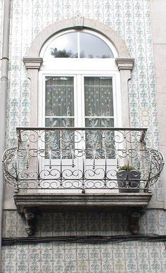 Azulejos da fachada - Rua Almirante Barroso