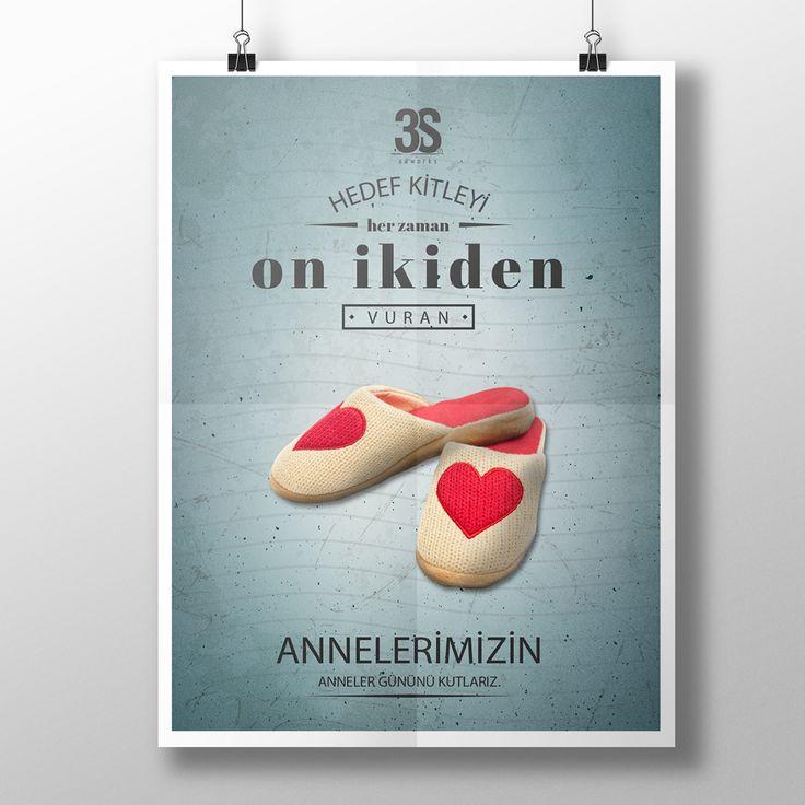Anneler Günü Afiş Tasarımı / Mother's Day Poster Design on Behance