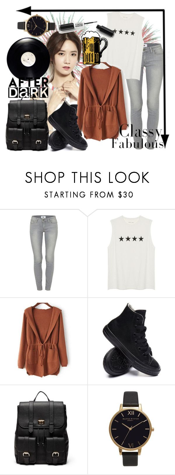"""""""Last days of summer"""" by d9a5lia ❤ liked on Polyvore featuring Paige Denim, Converse, Sole Society and Olivia Burton"""