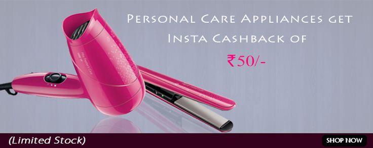 Get Insta Cashback on Personal Care Appliances.   #OnlineShopping #DeliveringTrust
