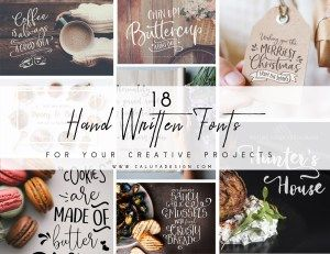 18 Stunning Hand-Written Fonts You Need