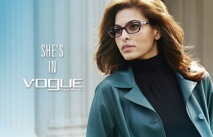 Eva Mendes for Vogue Eyewear Fall Winter 2014 Campaign