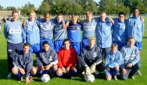 Mannschaftsfoto von 2003 mit Jerome #Boateng, Änis Ben-Hatira, Patrick Ebert und Kevin Prince Boateng #Hertha