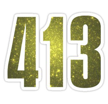413 Massachusetts [Gilded Galaxy] | Phone Area Code Shirts by FreshThreadShop