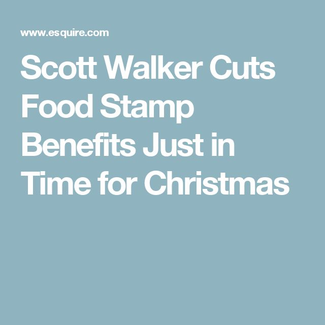 Scott Walker Cuts Food Stamp Benefits Just in Time for Christmas