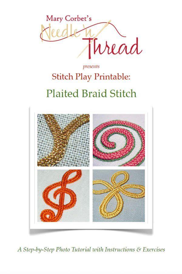 Image of Plaited Braid Stitch Printable
